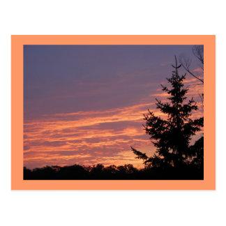 Carte Postale Lever de soleil saumoné