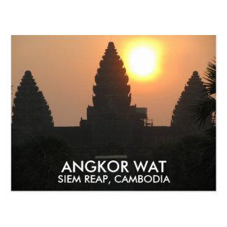 Carte Postale Lever de soleil Siem Reap Cambodge Asie de temple