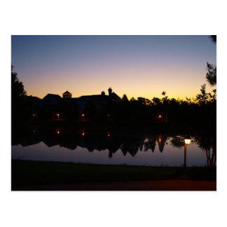 Carte Postale Lever de soleil Silouette à Orlando, la Floride