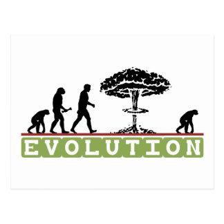 Carte Postale L'évolution drôle évoluent