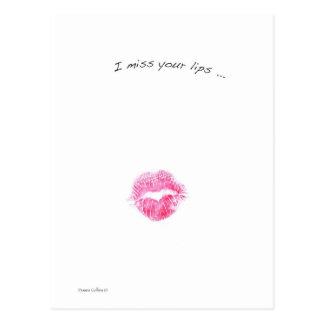 Carte Postale Lèvres rouges
