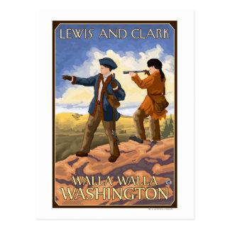 Carte Postale Lewis et Clark - Walla Walla, Washington