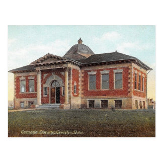 Carte Postale Lewiston, Idaho, bibliothèque de Carnegie, cru