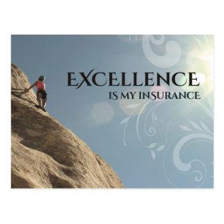 Carte Postale L'excellence est mon assurance