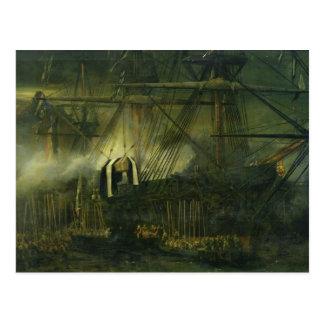 Carte Postale L'expédition des cendres du napoléon à bord