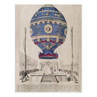 Carte Postale L'expérience du ballon des frères de Montgolfier