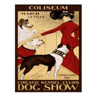 Carte Postale L'exposition canine 1902 du club de chenil de
