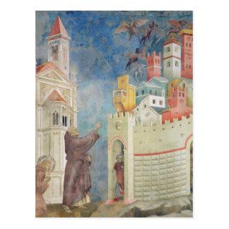Carte Postale L'expulsion des diables d'Arezzo, 1297-99