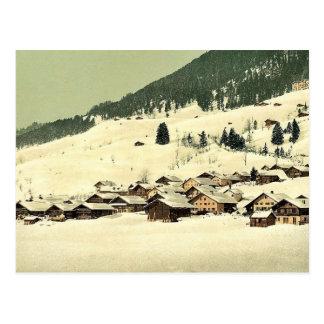 Carte Postale Leysin, le village et sanatorium en hiver, non-et