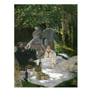 Carte Postale l'Herbe de sur de Dejeuner de Claude Monet |,