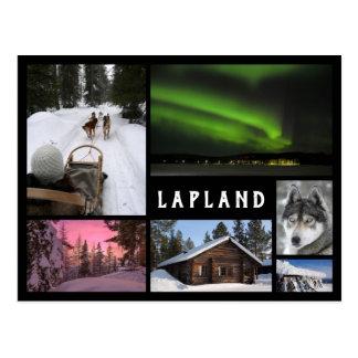 Carte Postale L'hiver de la Laponie aménage le collage noir de