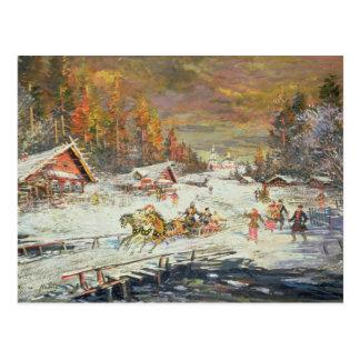 Carte Postale L'hiver russe, 1900-10