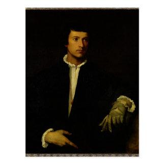 Carte Postale L'homme avec un gant, c.1520