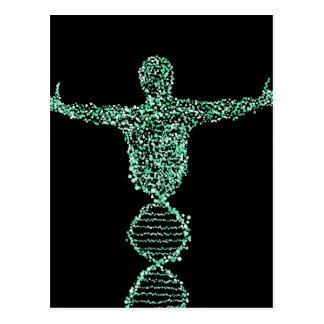 Carte Postale L'homme d'ADN de biologie