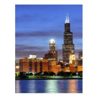 Carte Postale L'horizon de Chicago du planétarium d'Adler