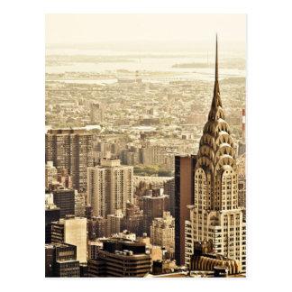 Carte Postale L'horizon de New York City et la construction de