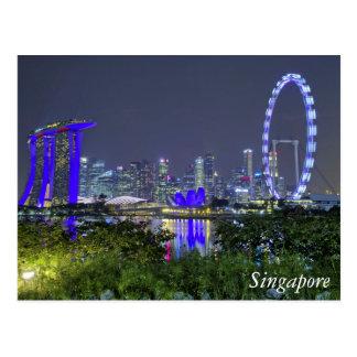 Carte Postale L'horizon de Singapour par nuit