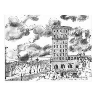 Carte Postale L'hôtel de Tioga le jour nuageux, roucoulements