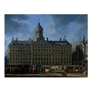 Carte Postale L'hôtel de ville sur le barrage, Amsterdam