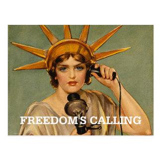 Carte Postale Liberté de PIÈCE EN T appelle
