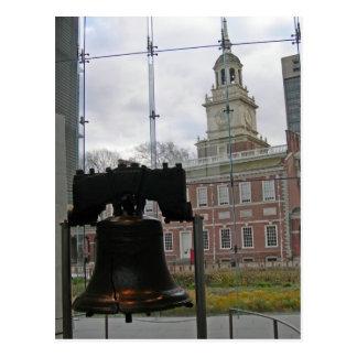 Carte Postale Liberty Bell et l'indépendance Hall