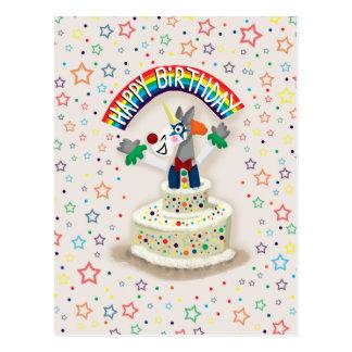 Carte Postale Licorne de joyeux anniversaire