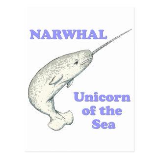 Carte Postale Licorne de Narwhal de la mer