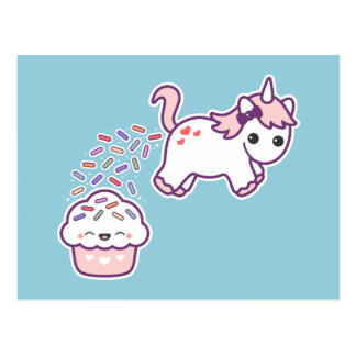 Carte Postale Licorne drôle de Pooping