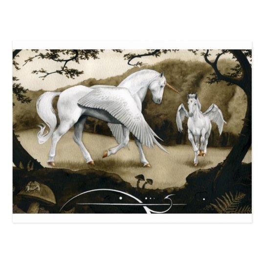 Carte Postale Licornes