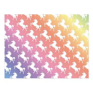 Carte Postale Licornes d'arc-en-ciel II