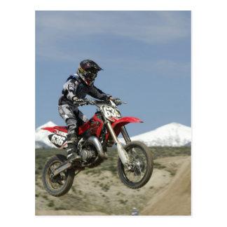 Carte Postale L'Idaho, motocross emballant, emballage de moto