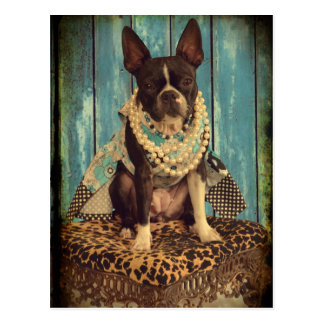 Carte Postale Lierre Boston Terrier
