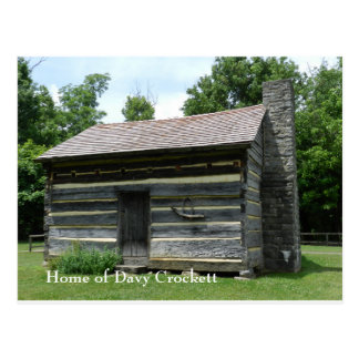 Carte Postale Lieu de naissance de Davy Crockett