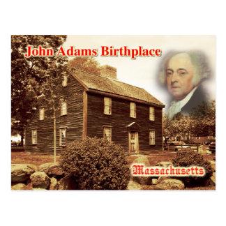 Carte Postale Lieu de naissance de John Adams, le Massachusetts