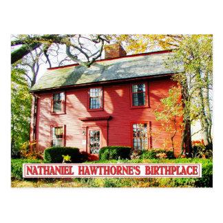 Carte Postale Lieu de naissance de Nathaniel Hawthorne, Salem,
