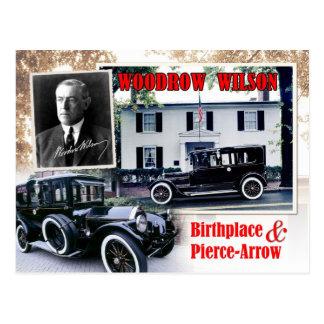 Carte Postale Lieu de naissance de Woodrow Wilson et limousine