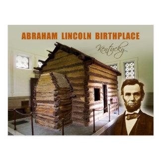 Carte Postale Lieu de naissance NHP, Kentucky d'Abraham Lincoln