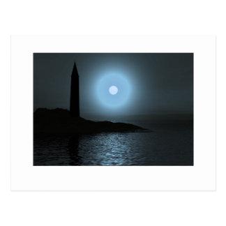 Carte Postale Lighthouse1 éclairé par la lune