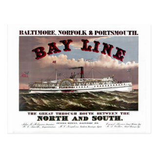 Carte Postale Ligne de Baltimore reconstitué, Norfolk,