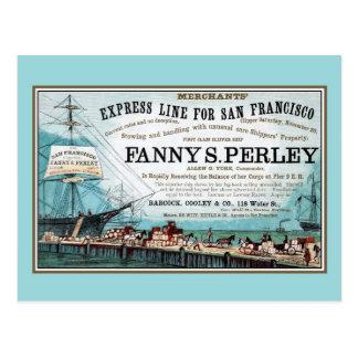 Carte Postale Ligne maritime exprès antique de San Francisco