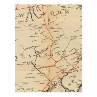 Carte Postale Lignes et connexions de circuit métallique