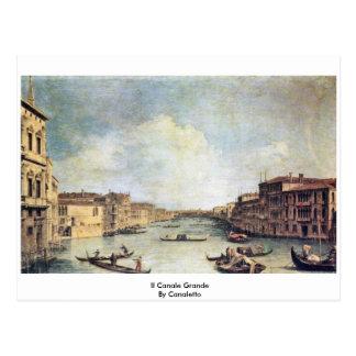 Carte Postale L'IL Canale grand par Canaletto