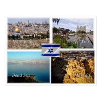 Carte Postale L'IL Israël - Jérusalem Tel Aviv - mer morte -