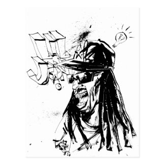 "Carte Postale Lil Jon ""collaboration par JIM Mahfood et Lil Jon"