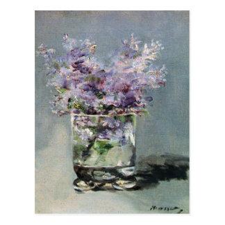 Carte Postale Lilas dans un verre par Edouard Manet