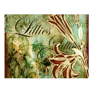 Carte Postale Lillies