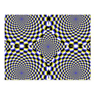 Carte Postale L'illusion optique en expansion entoure hypnotique