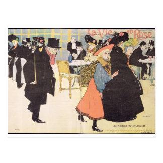 """Carte Postale L'illustration de couverture pour la """"La luttent"""