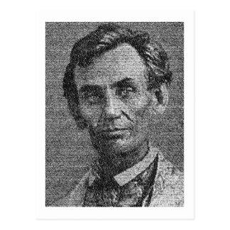 Carte Postale Lincoln a rendu avec l'adresse de Gettysburg