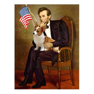 Carte Postale Lincoln - corgi 8 de Gallois de Pembroke